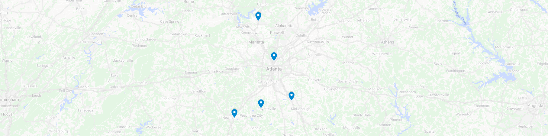 map of our atlanta brain and spince care locations